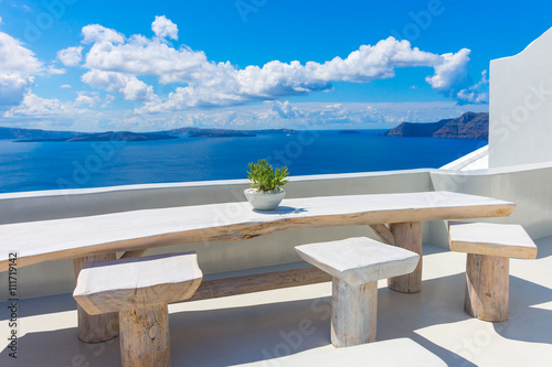 Fototapety, obrazy : Landscape Santorini Island, Oia, Cyclades, Greece