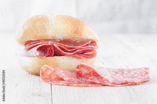 Poster Bread Loaf With Salami