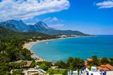 Fototapety Great view on Kemer region in Antalya. Turkish resort, very gree