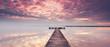 Urlaub am See, Sonnenaufgang am Steg