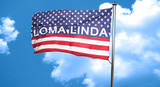 loma linda, 3D rendering, city flag with stars and stripes