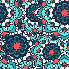 Seamless round ornament pattern. Islam, Arabic, Indian, ottoman