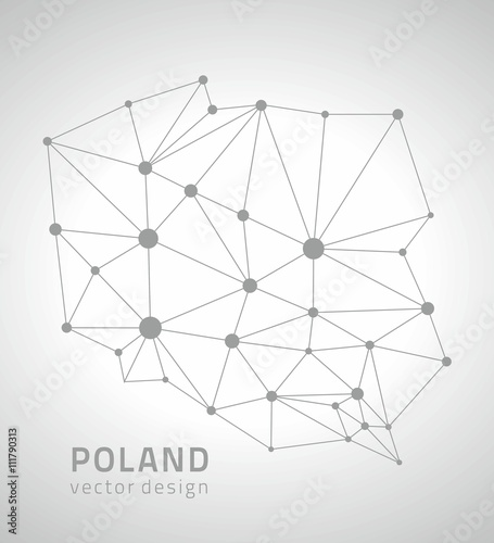 Fototapeta Poland vector outline map