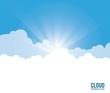 Cloud design. Wheater icon. Colorful illustration