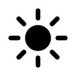 Sun or screen brightness sun line art icon for apps and websites