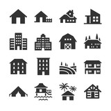 Fototapety Property type icons