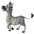 funny Zebra cartoon character