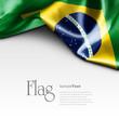 Quadro Flag of Brazil on white background. Sample text.