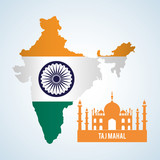 India design. Culture icon. Isolated illustration , editable vector