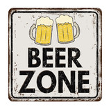 Beer zone vintage rusty metal sign