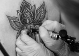 tattoo flower on the woman