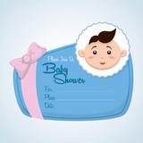 Baby shower design. invitation design.  isolated illustration