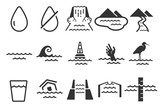 Fototapety Water icons set