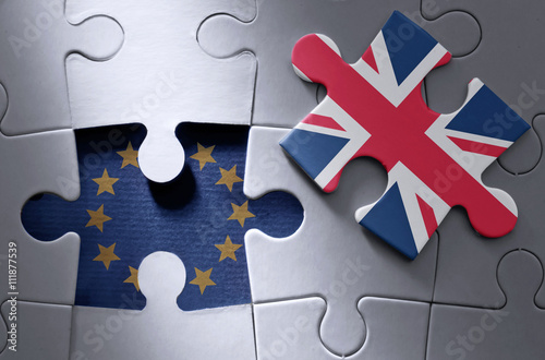 Poster Brexit jigsaw puzzle concept