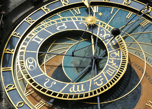 Prague astronomical clock or orloj Poster
