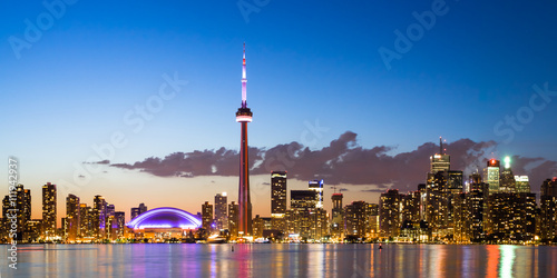 View of Toronto Canada Cityscape during sunset Poster
