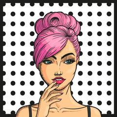 Vector Illustration of a Pop Art Woman