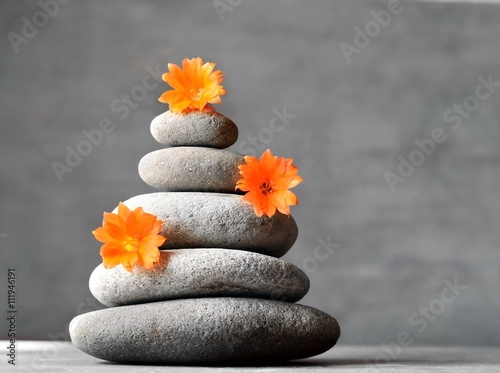 In de dag Spa Stones balance and flower. Spa concept.