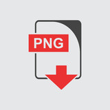 PNG Icon vector flat
