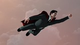 businessman flying as Superman render 3D