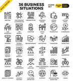 Business situation icons - 111970705