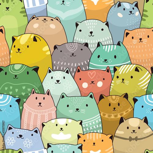 obraz PCV Cats seamless pattern