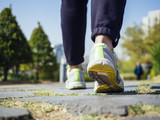 Woman Walking in Park Outdoor Jogging exercise Healthy Lifestyle - 111981757
