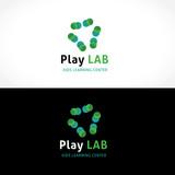 Play lab logo. vector logo template