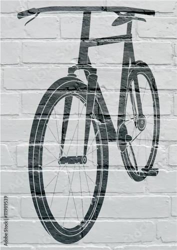 Art urbain, bicycle. Poster
