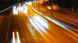 the light trails on the highway