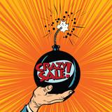 Fototapety News bomb crazy sale