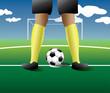 Постер, плакат: penalty kick