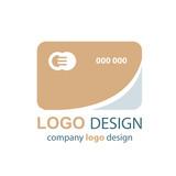 card logo  brown design