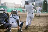 Fototapety 高校野球試合風景