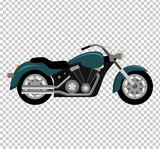 Cool Motorcycle Isolated on White Background