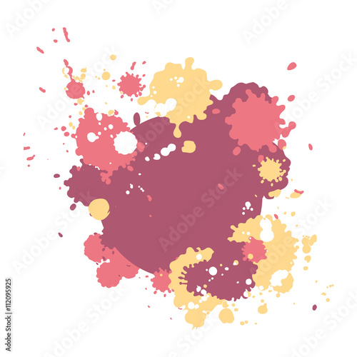 Foto op Canvas Bloemen vrouw Abstract colorful background with vector bright pait blots. Modern abstract template.