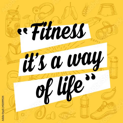 Plakát Fitness motivation quote poster