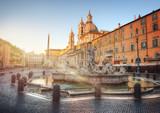 Piazza Navona during sunrise, Rome, Italy
