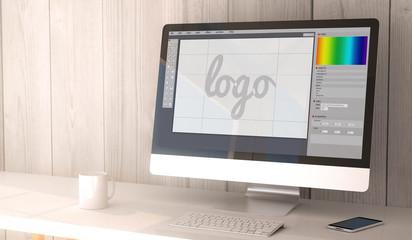 desktop computer graphic design