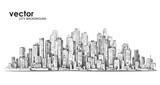 Cityscape, hand drawn vector sketch - 112119983