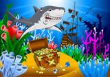 shark and treasure