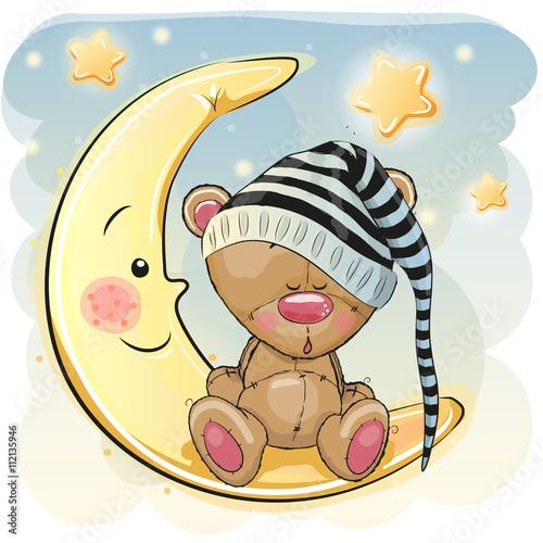 obraz PCV Cute Sleeping Bear