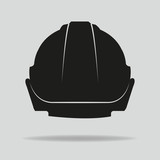 hardhat, vector, protection, safety helmet, icon, logo, concept.