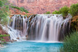 Little Navajo Falls on and Turquoise Havasu Creek