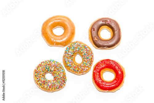 Poster Doughnuts collection isolated on white background