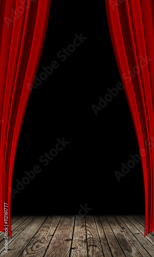 red curtain background - 112161777