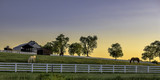 Kentucky farm at sunrise - 112178151