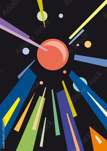 Fototapeta abstract geometric colorful vector background