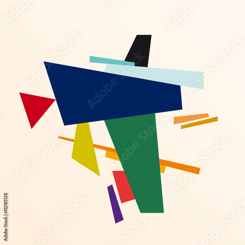 abstract geometric colorful vector background Poster