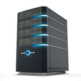 Network server. 3D illustration.